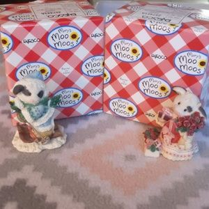 Mary's Moo Moos Accents - Set of 2 Mary's Moo Moos with boxes